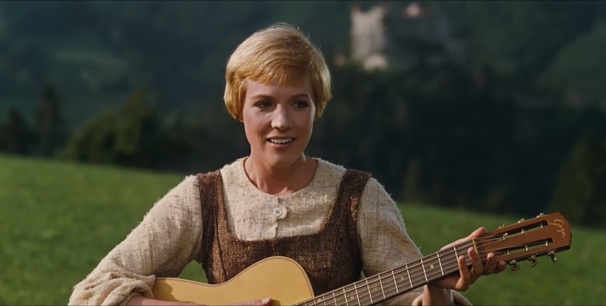 Julie Andrews as Maria in The Sound of Music , inspiring leading ladies