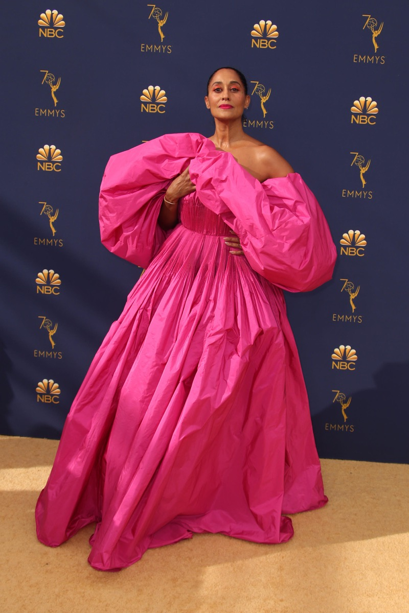 Tracee Ellis Ross at the Emmy Awards in 2018 Iconic Emmys Looks