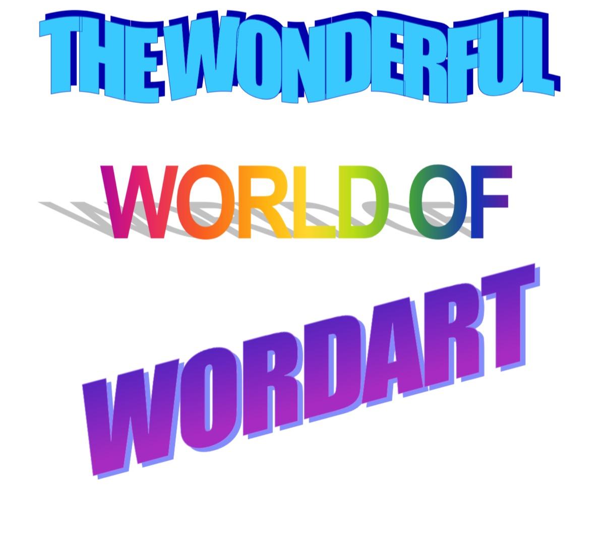 WordArt from 1990s