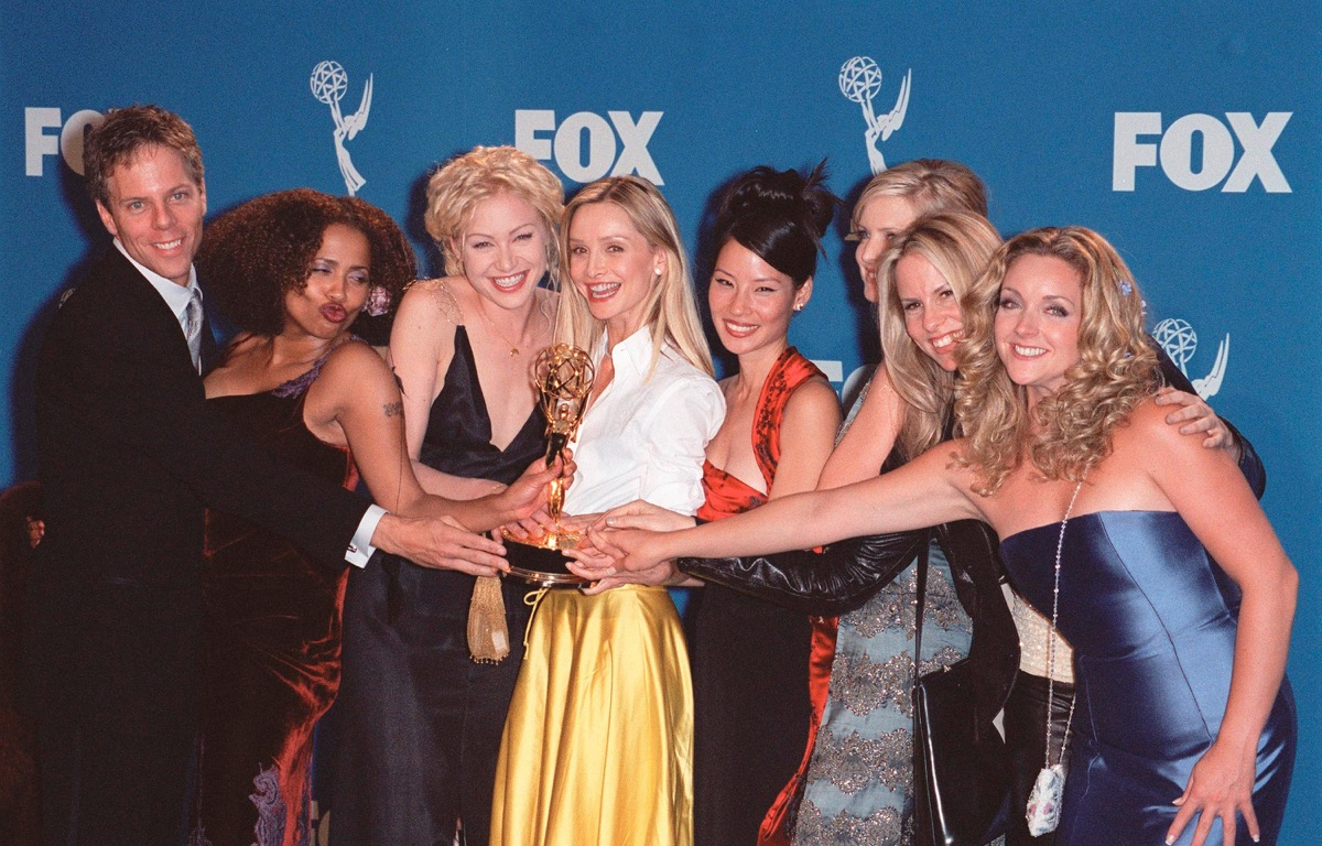 ally mcbeal cast at the 1999 emmy awards