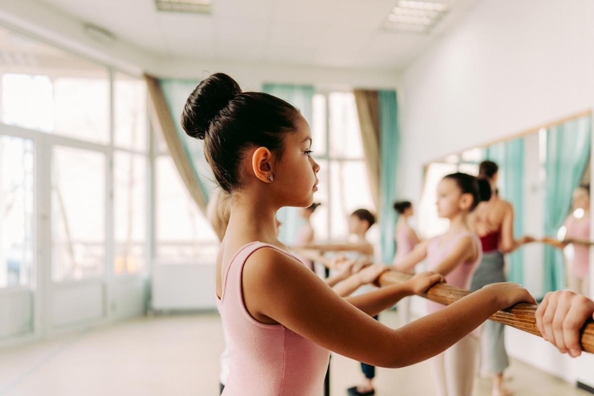 Photo of children practicing ballet in a dance studio