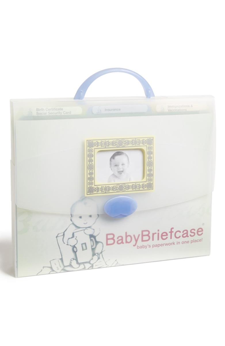 baby briefcase clear organizer, gifts for pregnant people