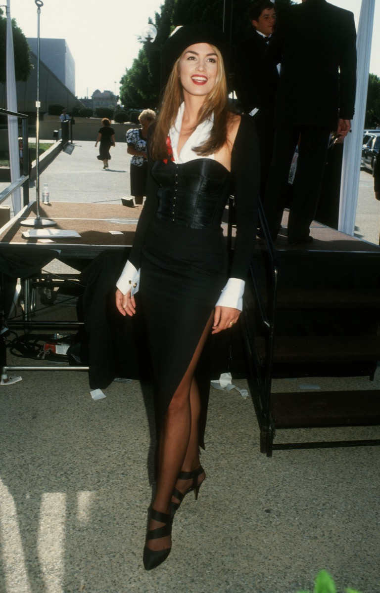 Cindy Crawford at the Emmy Awards Iconic Emmys Looks