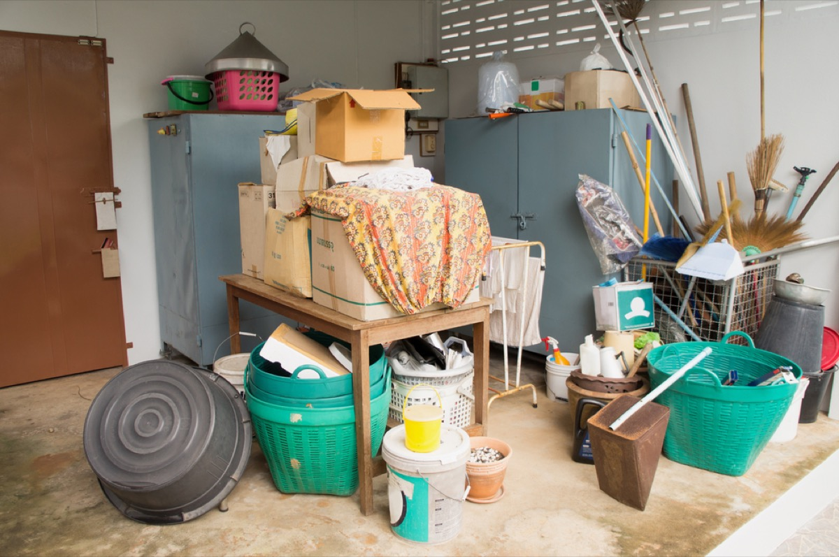 cluttered storage room, fire prevention tips