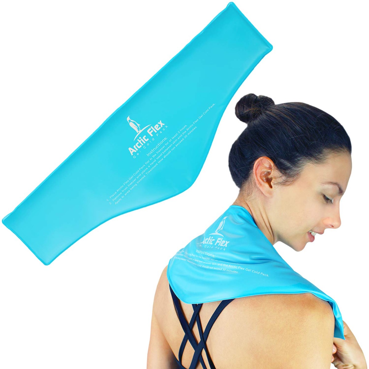 woman wearing blue fabric around neck, gifts for pregnant people