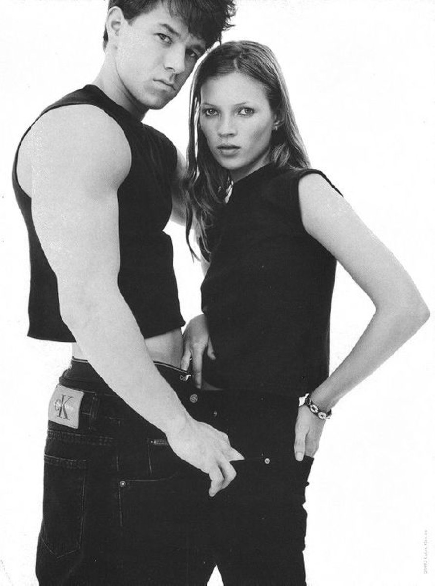 marky mark or mark wahlberg and kate moss in calvin klein ad