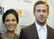"""Eva Mendes and Ryan Gosling at the """"Place Beyond the Pines"""" premiere at the Toronto International Film Festival in 2012"""