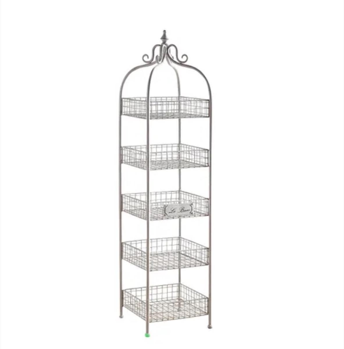 five tier wire rack, bathroom accessories