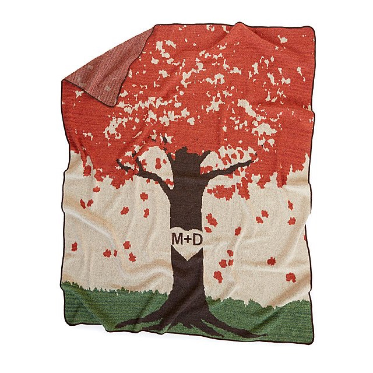 blanket with tree on it, fall home decor