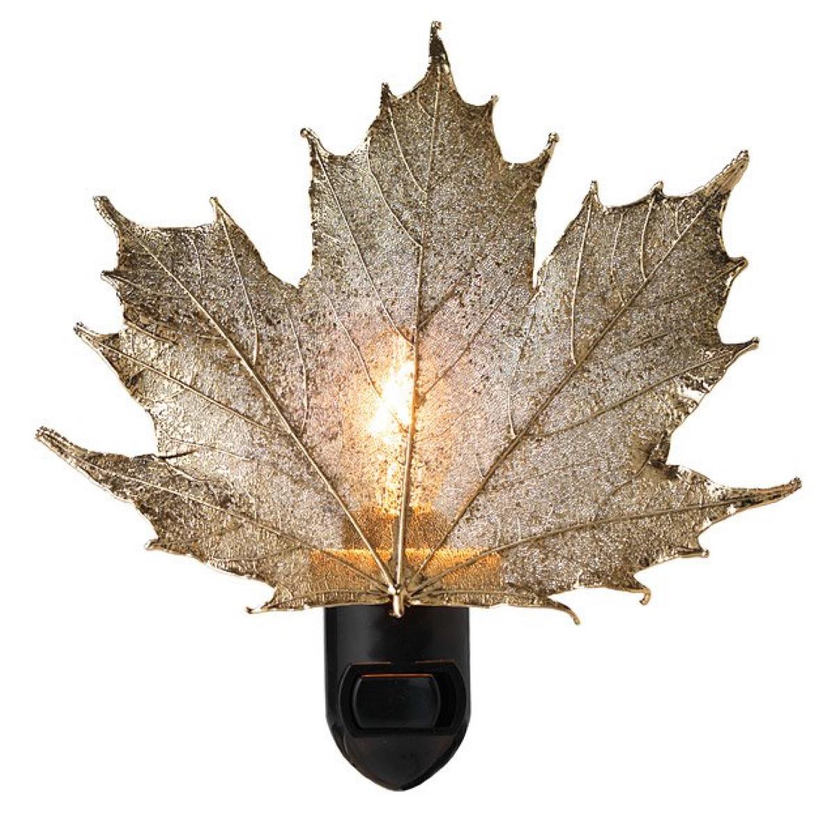 leaf nightlight, fall home decor