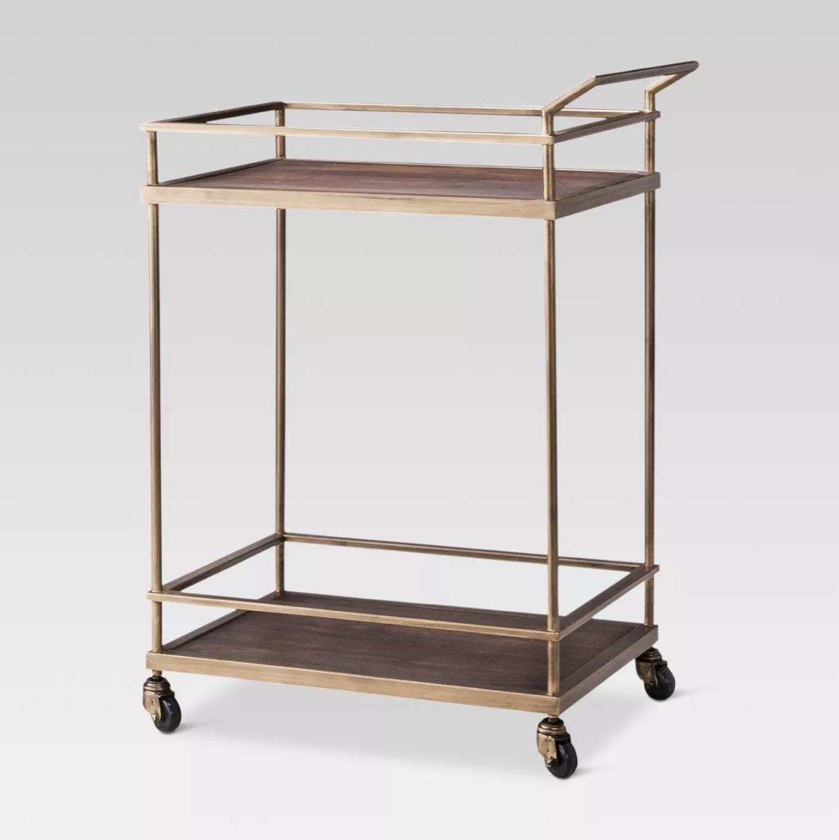 gold bar cart, target home decor items