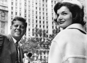 J71K5J John F. Kennedy, the nation's 35th President, would have turned 100 years old on May 29, 2017. With the centennial anniversary of John F. Kennedy's birth, the former president's legacy is being celebrated across the nation. PICTURED: Oct. 12, 1961 - New York, NY, U.S. - JOHN F. KENNEDY was the 35th President of the United States, as well as the youngest. PICTURED: President Kennedy with First Lady JACKIE KENNEDY at a Broadway Ticker Tape Parade. Credit: KEYSTONE Pictures USA/ZUMAPRESS.com/Alamy Live News