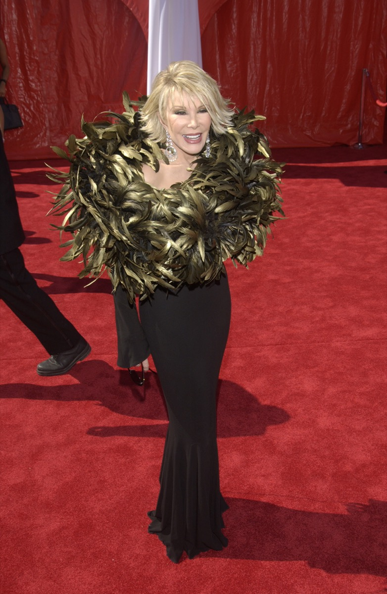 Joan Rivers at the Emmy Awards Iconic Emmys Looks