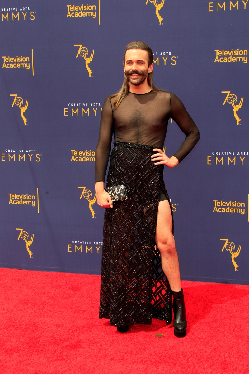 Jonathan Van Ness at the Emmy Awards Iconic Emmys Outfits