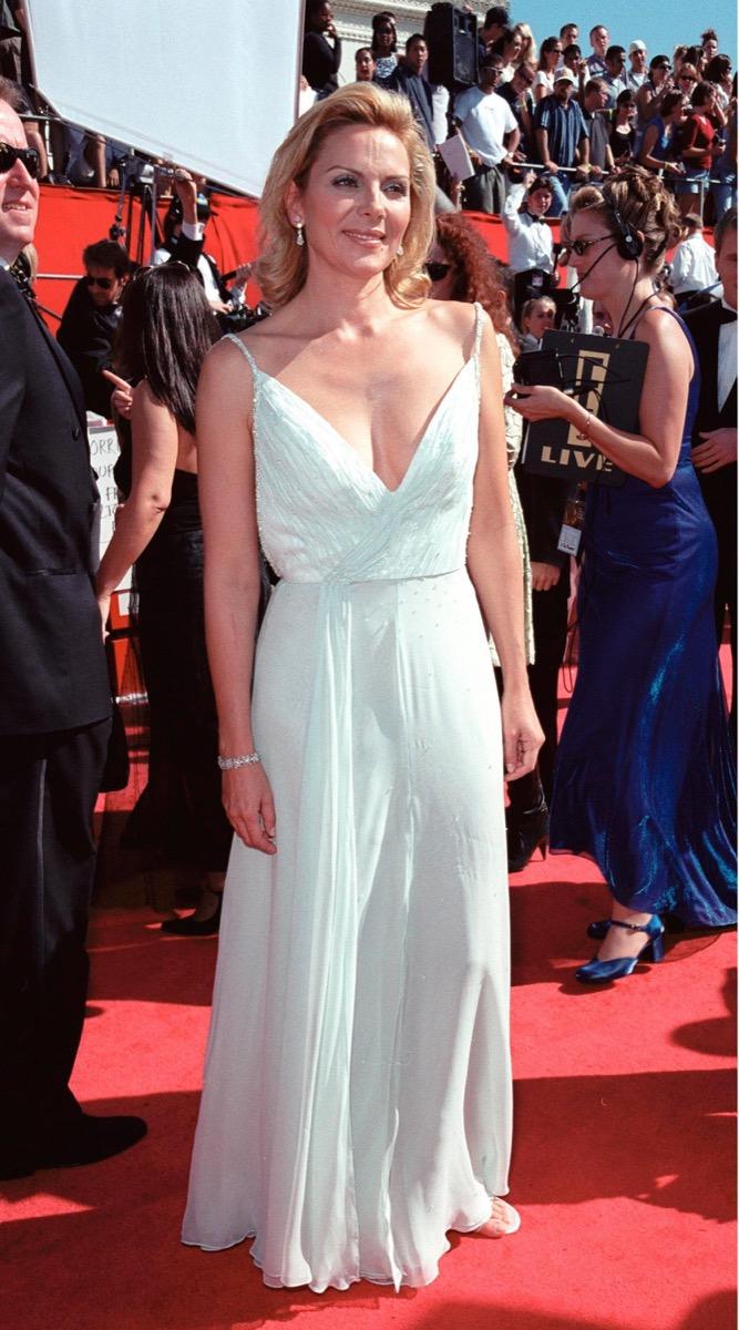 kim catrall at the 1999 emmy awards