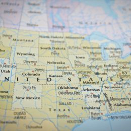 A Map of the United States of America Last U.S. States