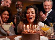 group celebrating a birthday
