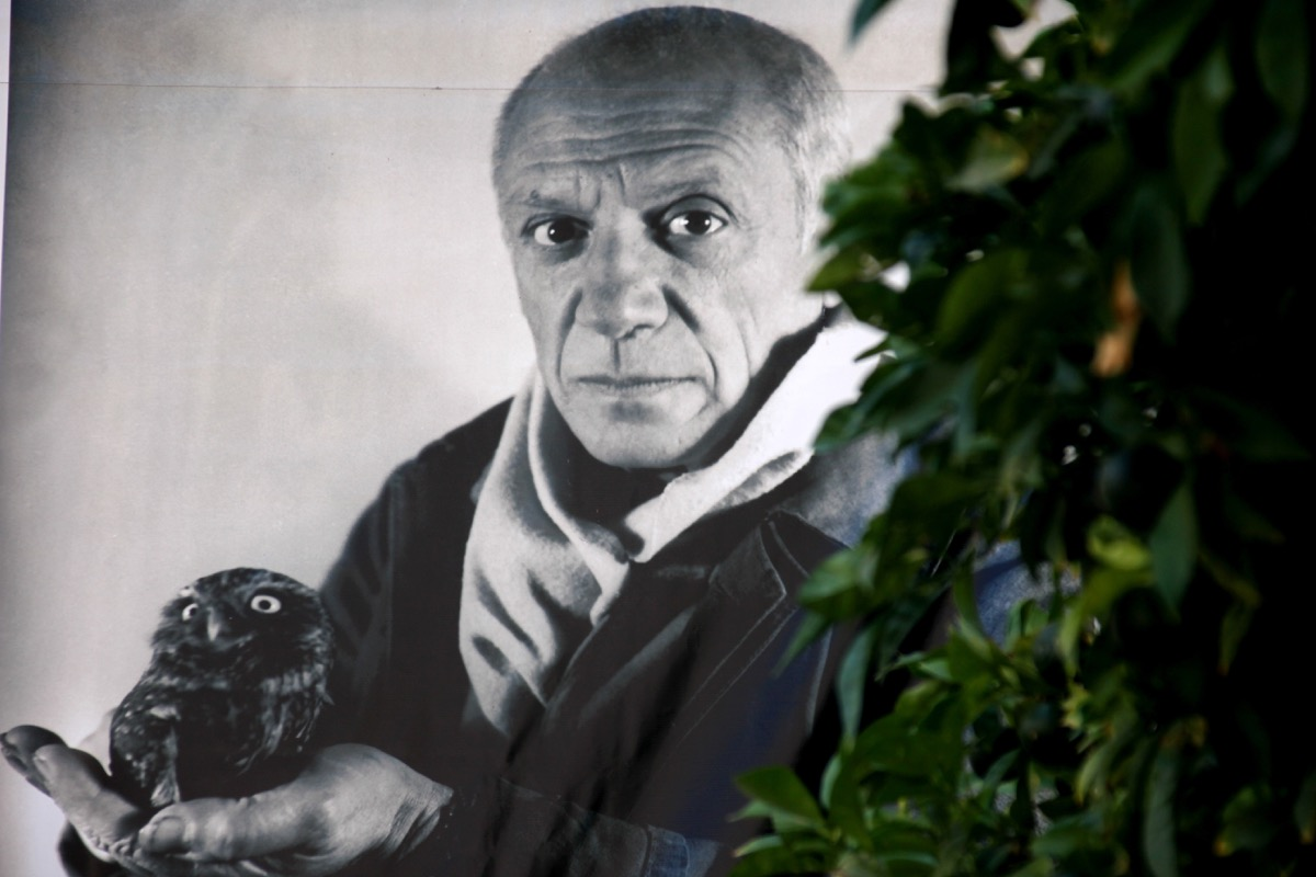 black and white image of pablo picasso