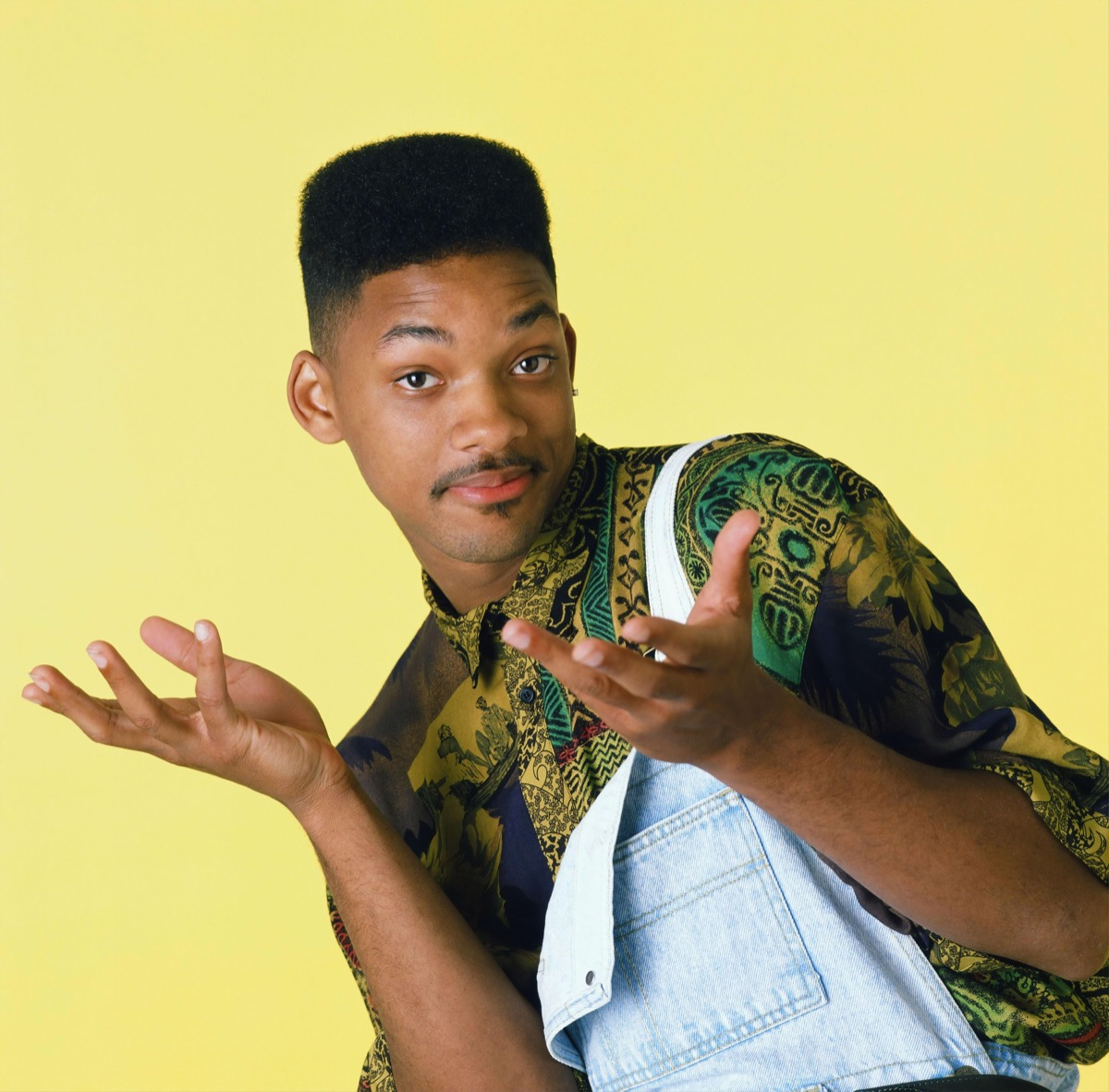 fresh prince, will smith wears overalls, 1990s fashion