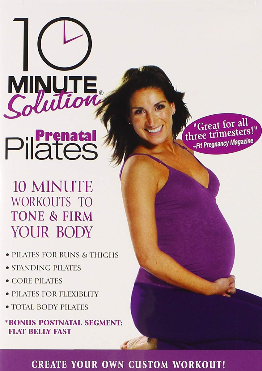 10 minute prenatal pilates dvd, gifts for pregnant people