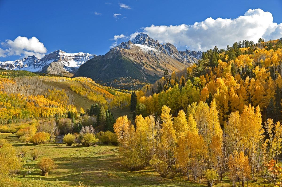 ridgway, colorado in fall