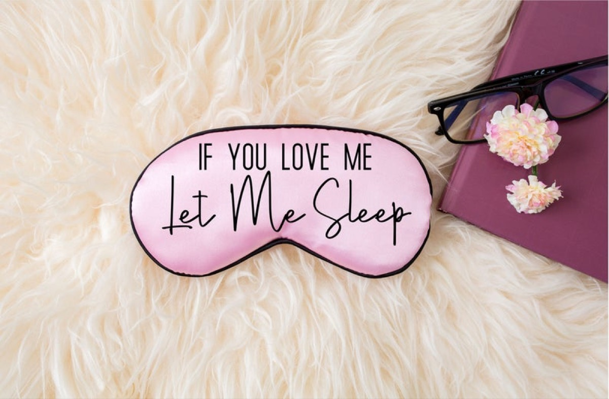 pink sleep mask, gifts for pregnant people