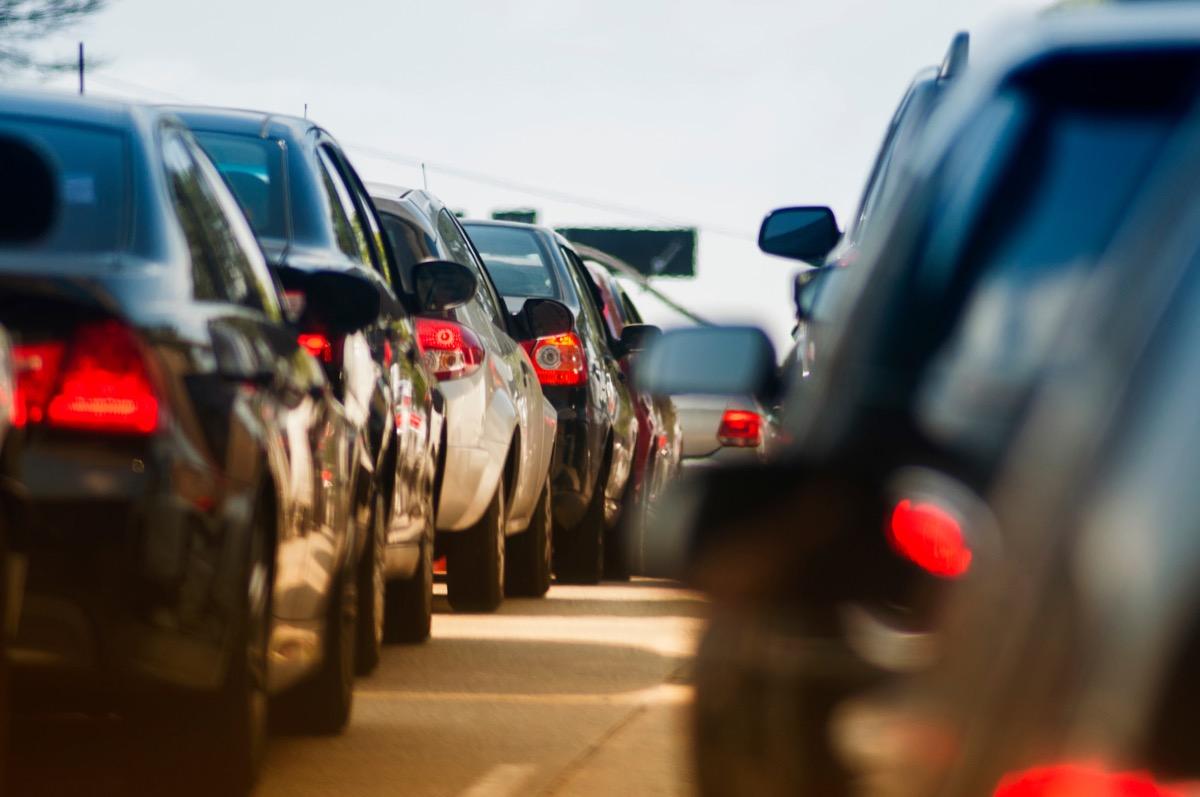 bumper to bumper traffic in brazil