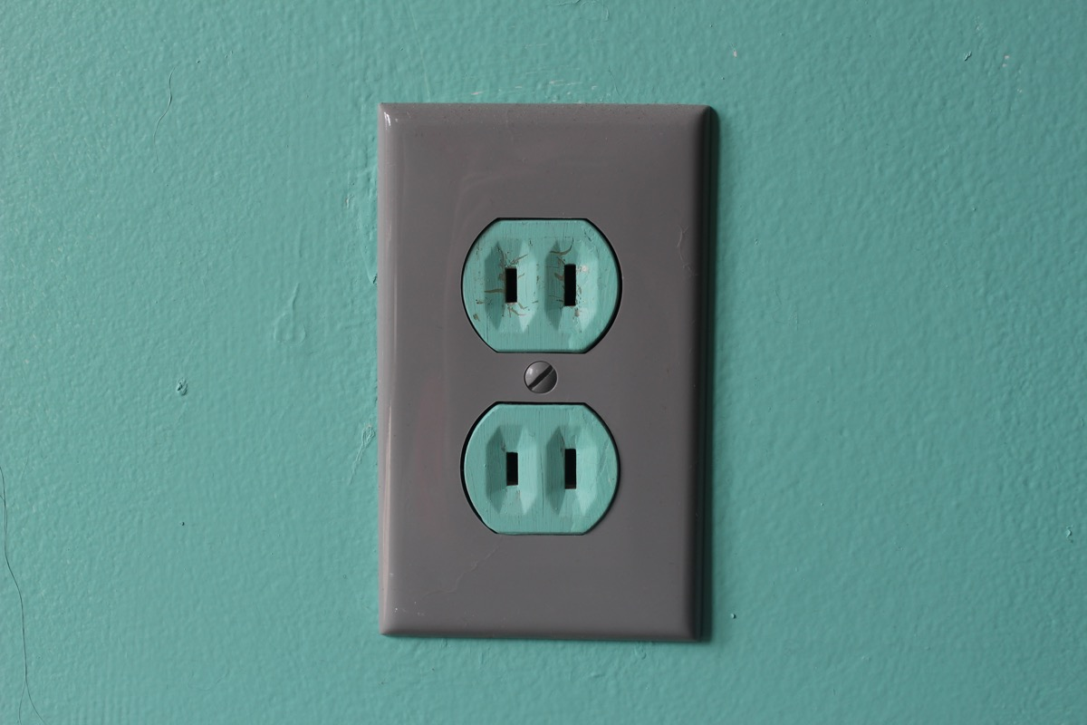 older two-prong outlet