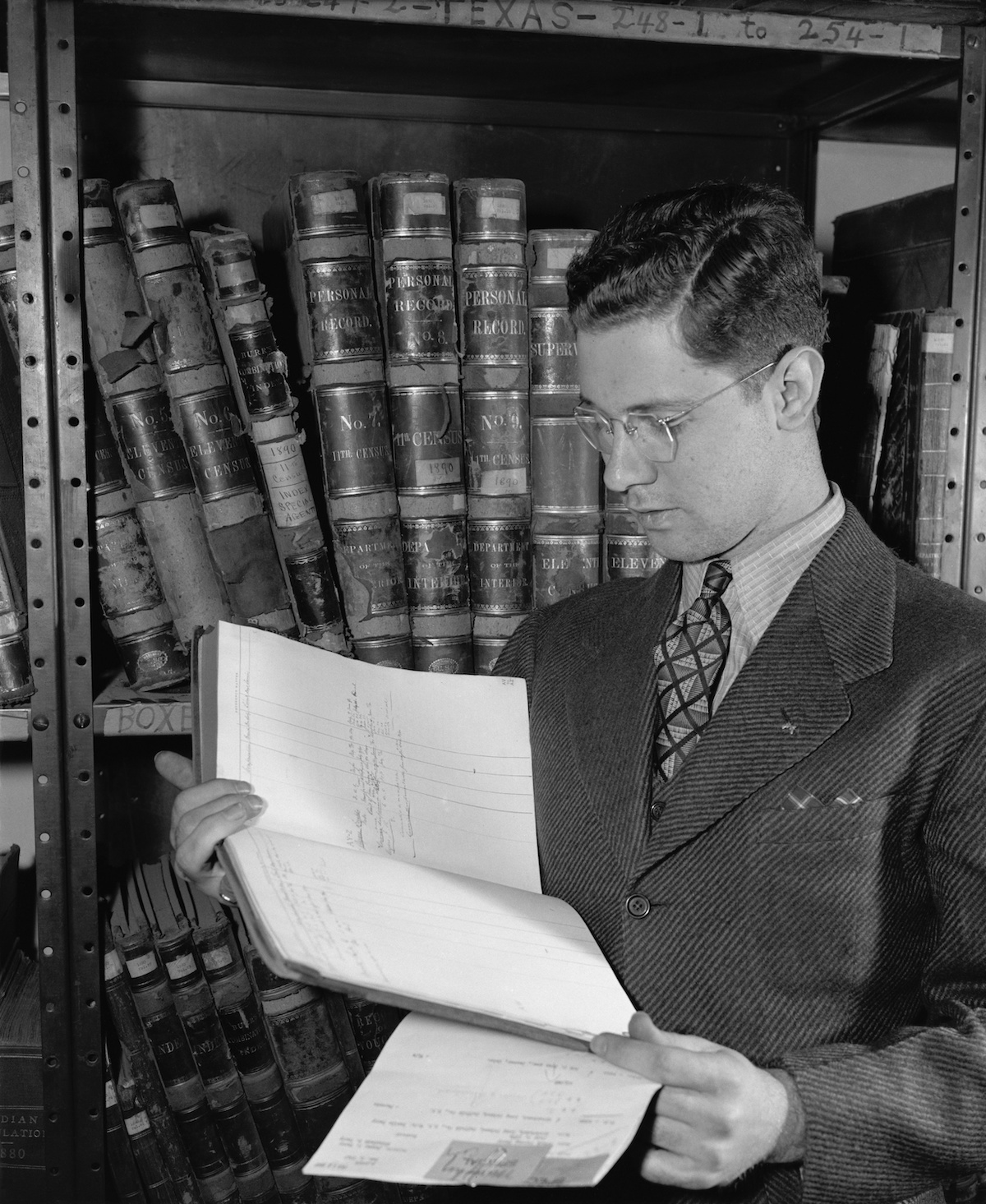 Government employee with 1890 census records, ca. 1940