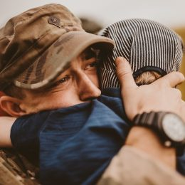 military dad reunites with son