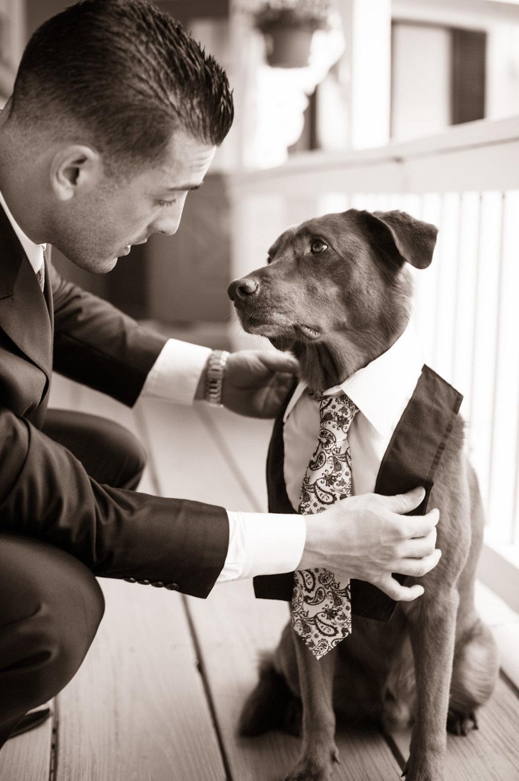 dog best man wedding viral photo