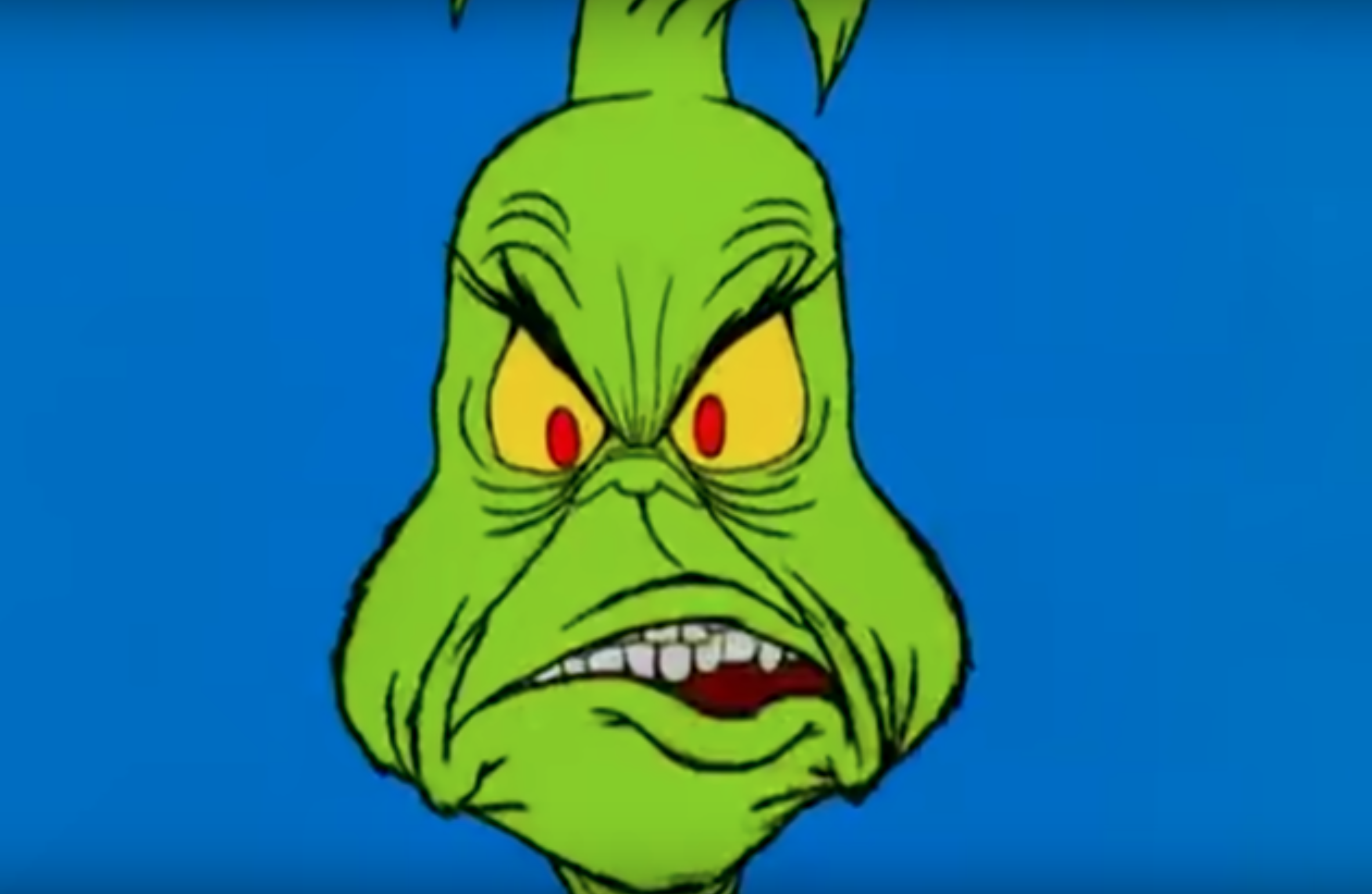 Grinch smirking featured in How the Grinch Stole Christmas!, 1966