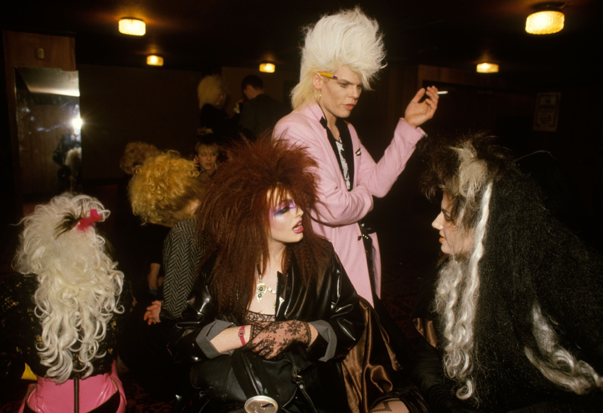 New Romantics youth cult look similar to the Punk movement Newcastle upon Tyne 1980s fashion UK.