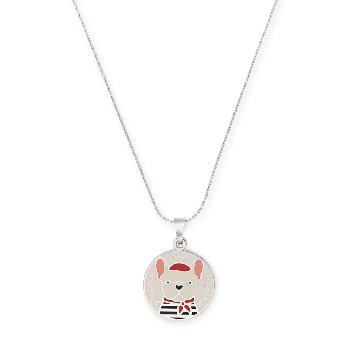 Alex and Ani French bulldog necklace