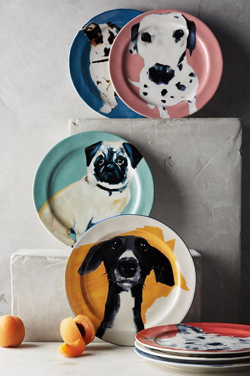 Sally Muir dog-a-day plates