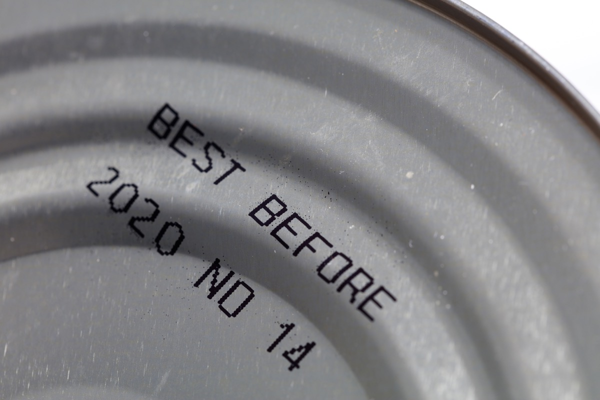 best by date printed on a can