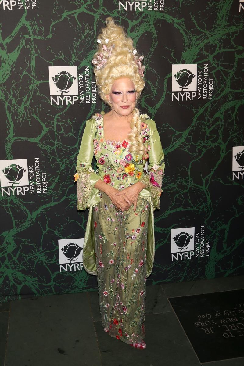 Bette Midler as Marie Antoinette on Halloween celebrity halloween costumes