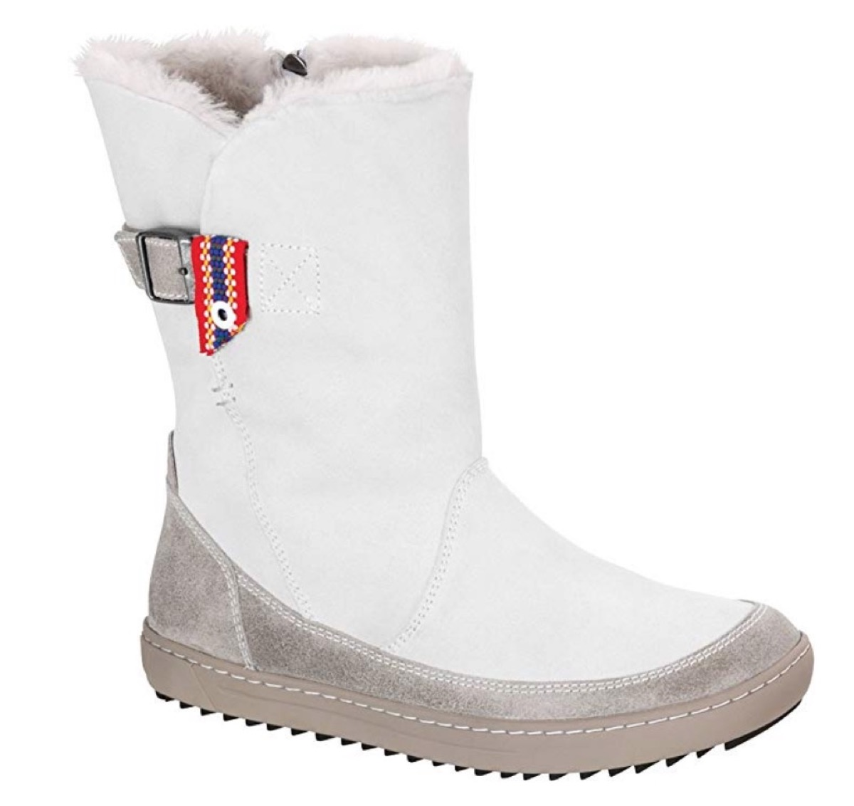 white boots with shearling lining