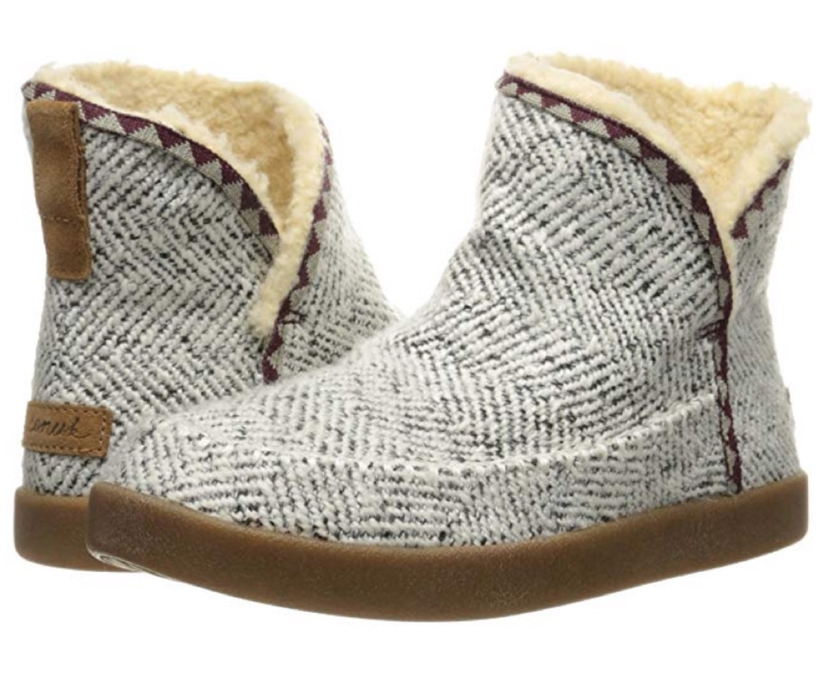 gray chevron boots