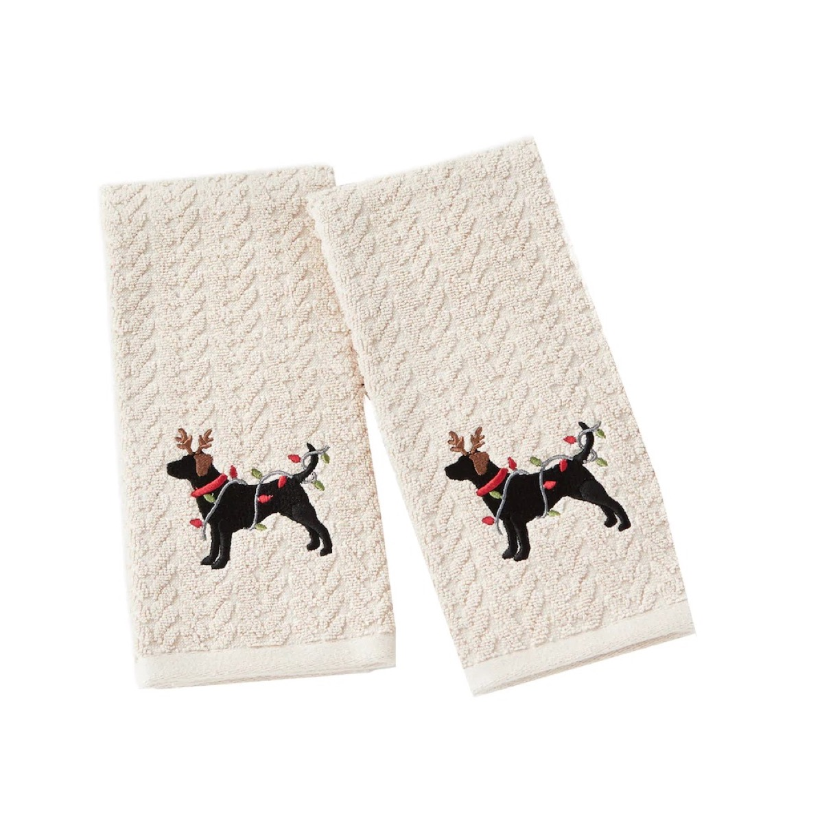 Christmas dog towels from Kohl's