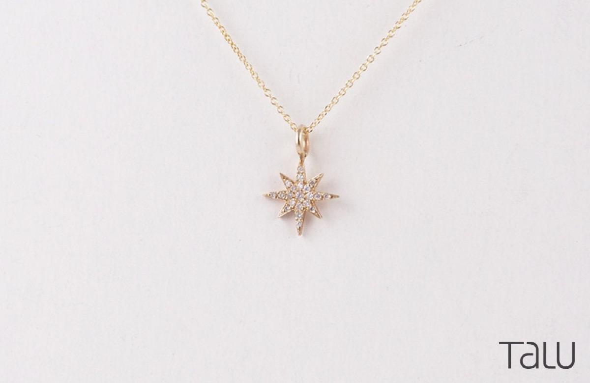 diamond star necklace, Etsy jewelry