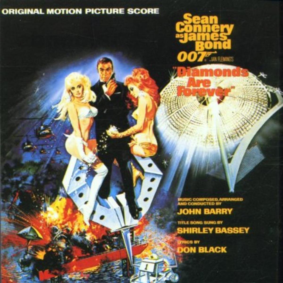 diamonds are forever movie soundtrack album cover