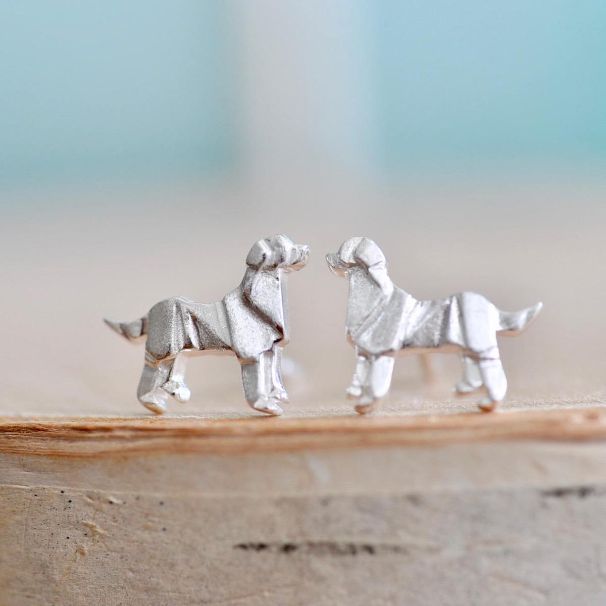 Origami Dog Earrings