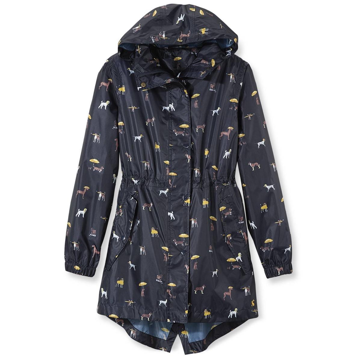Dog-embellished raincoat