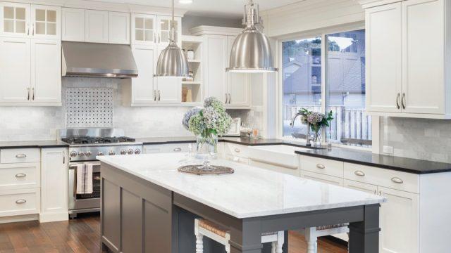 elegant modern open-concept kitchen