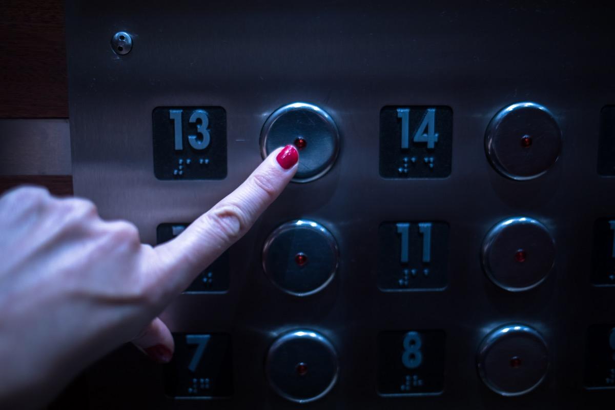 13th floor button on elevator