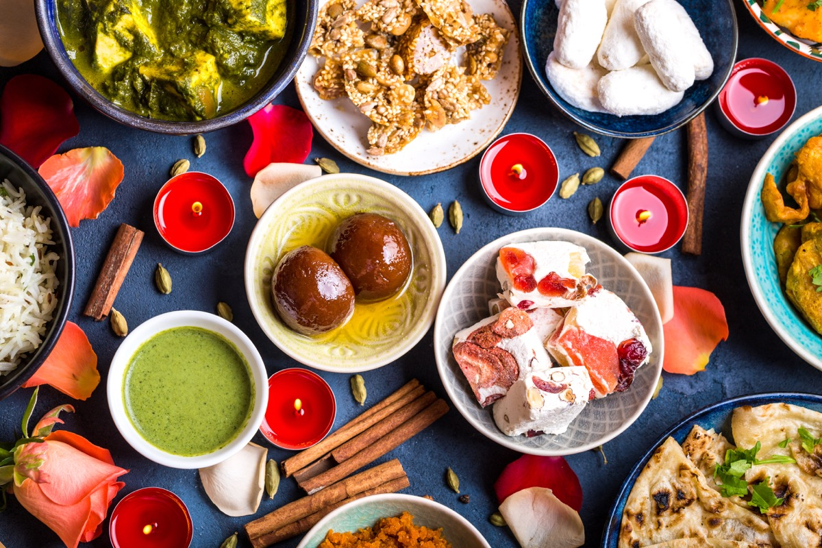 festive diwali table