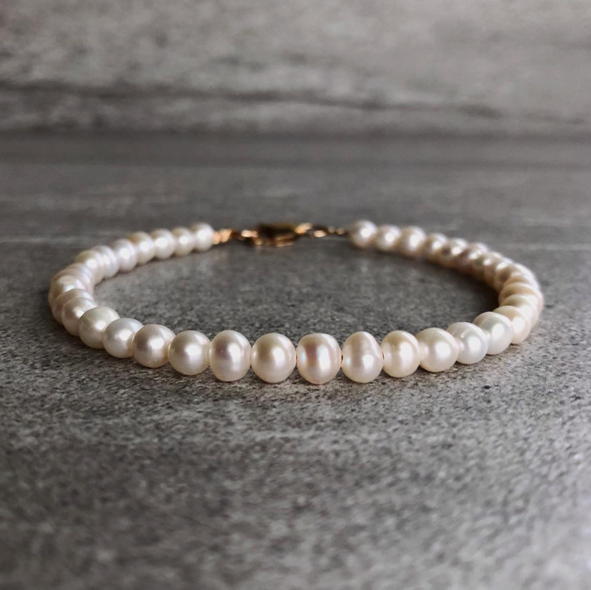 pink pearl bracelet, Etsy jewelry