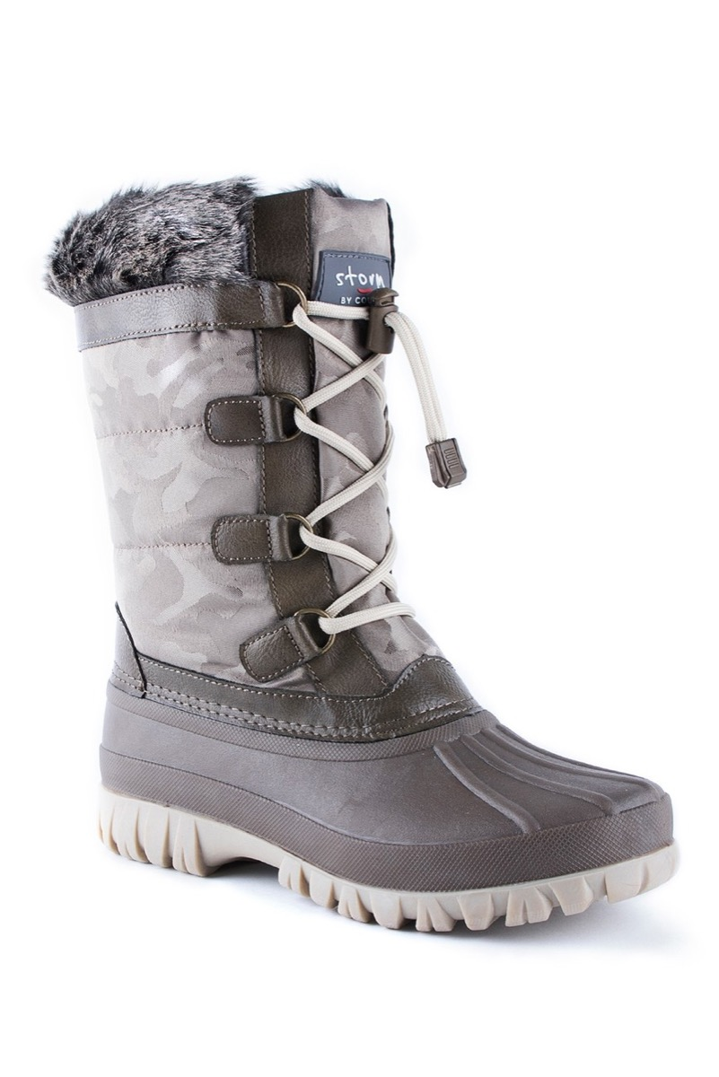 gray camouflage boots