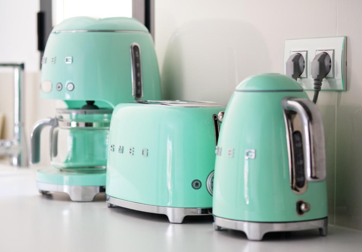 pastel green smeg appliances